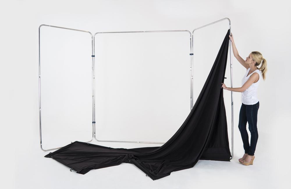 Lastolite knitterfreie Bespannung für Panorama Hintergrundsystem 4 x 2,3m, schwarz
