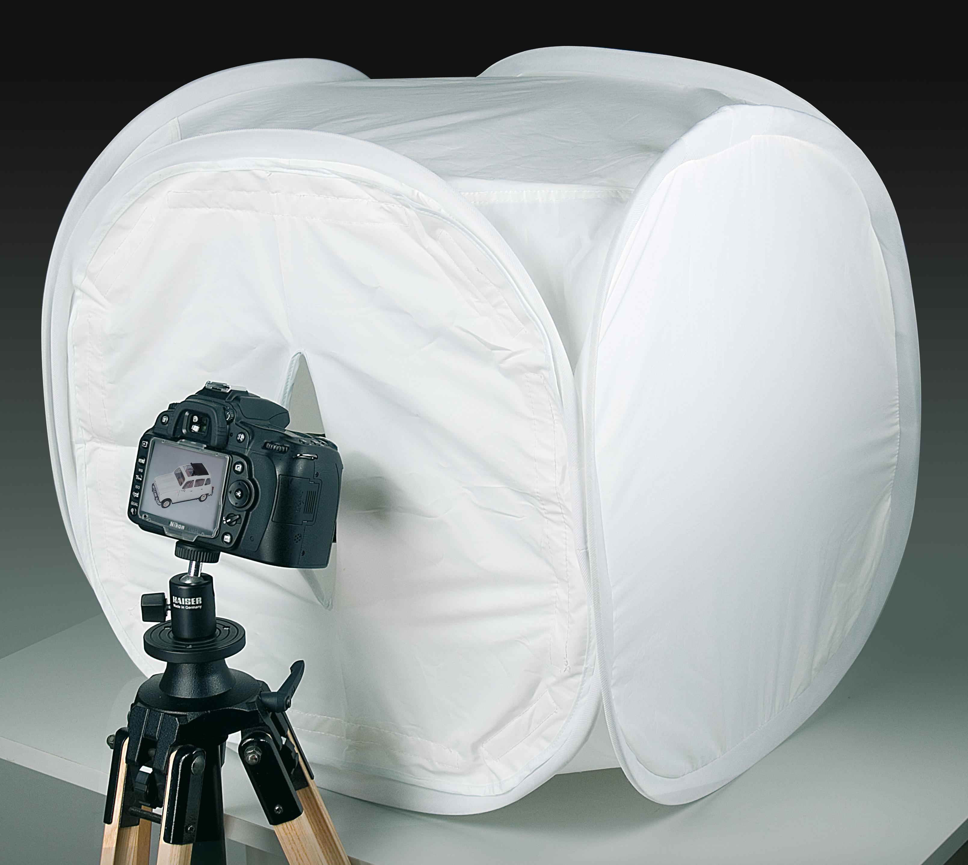 KAISER Desktop-Aufnahme-Set mit Cube-Studio 50x50x50cm