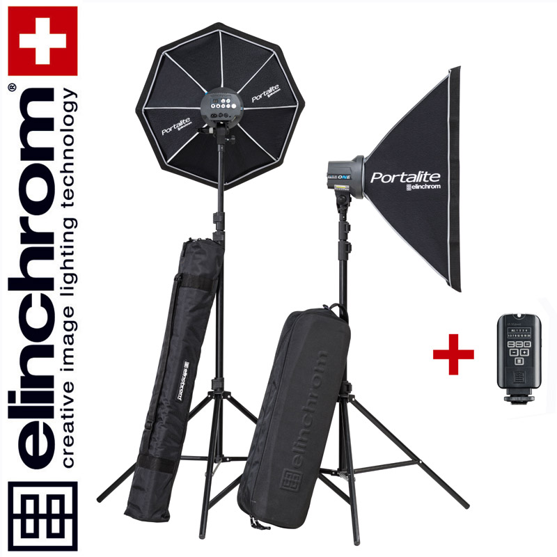 Elinchrom D-LITE RX ONE/ONE Softbox To Go Set (100/100Ws)