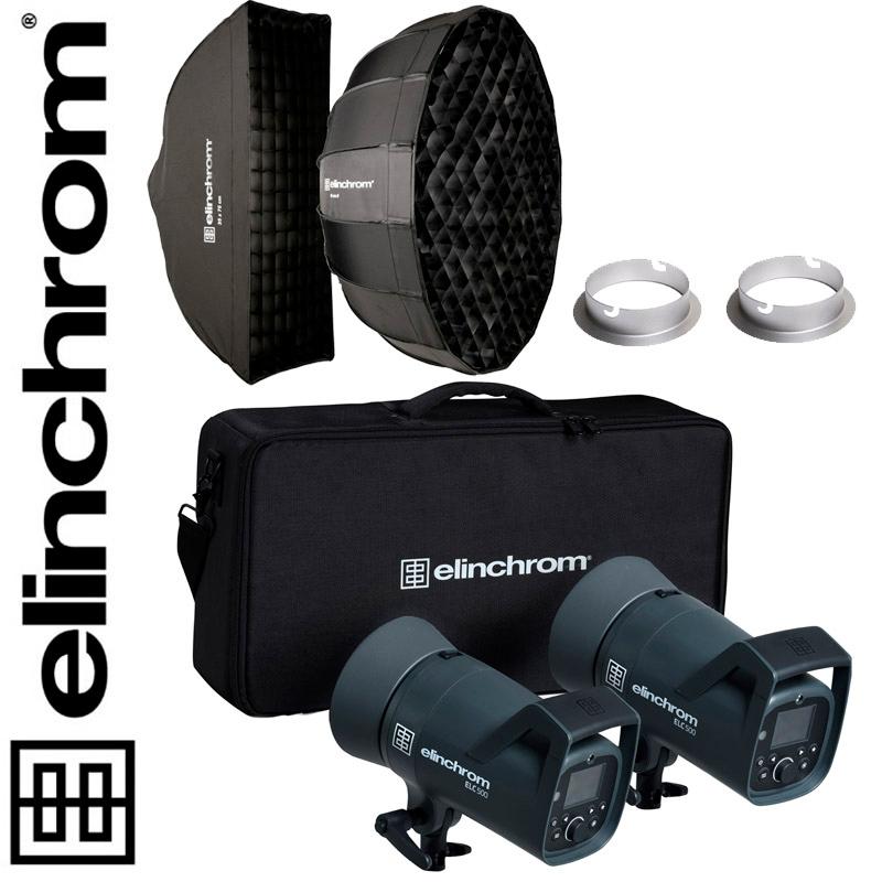 Elinchrom ELC 500/500 TTL Dual Portrait Set