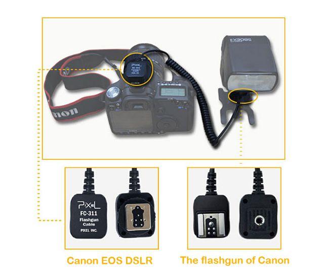 Pixel Spiral-Blitzkabel für Canon E-TTL ca. 3,6m (nutzbare Länge: 1,8m)