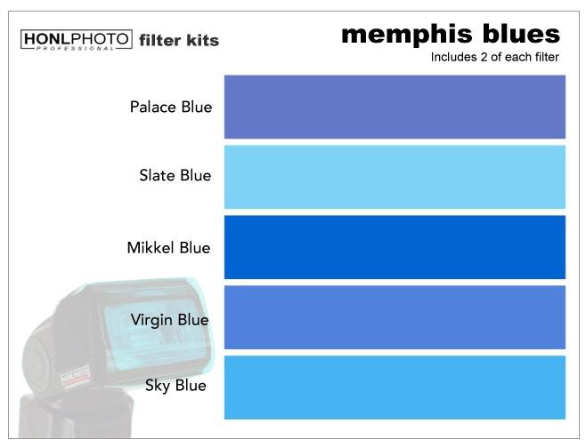 HONL Memphis Blues Farbfilter-Set 10 Stk. (Format ca. 64x102mm