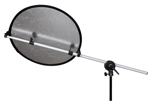 Teleskopische Halterung für Faltreflektoren bis Ø ca. 120cm