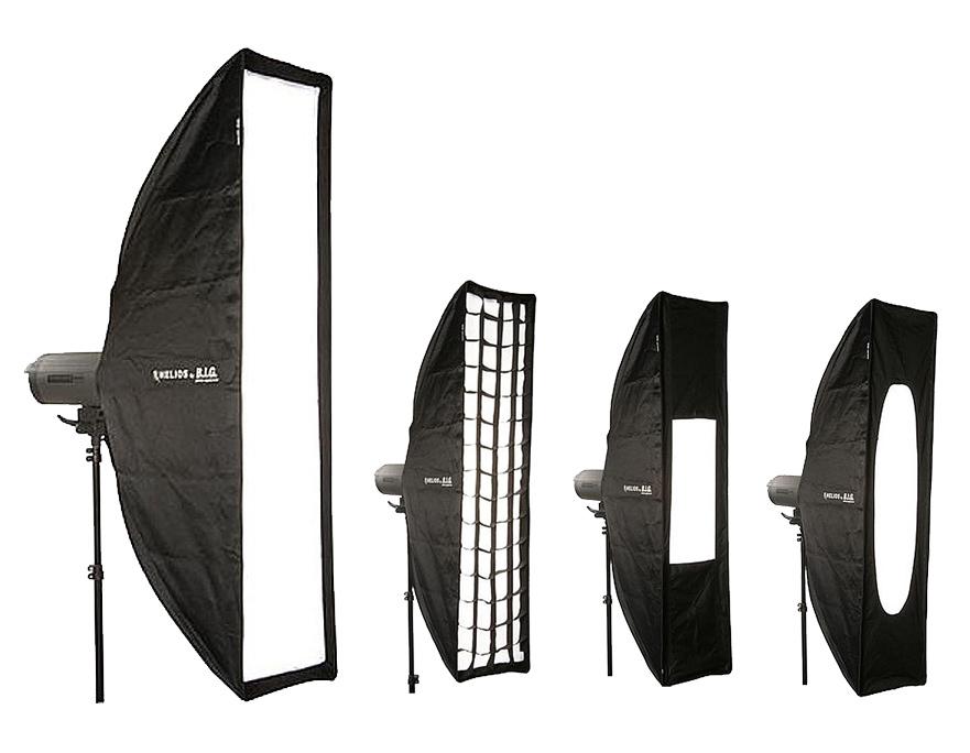 HELIOS Striplite Softbox 30x120cm inkl. Wabe + 2 Reduktionseinsätzen