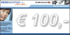Geschenkgutschein im Wert von EUR 100