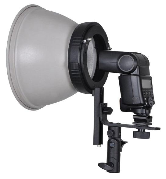 Systemblitz-Halter mit Bajonettanschluss für Lichtformer von Elinchrom