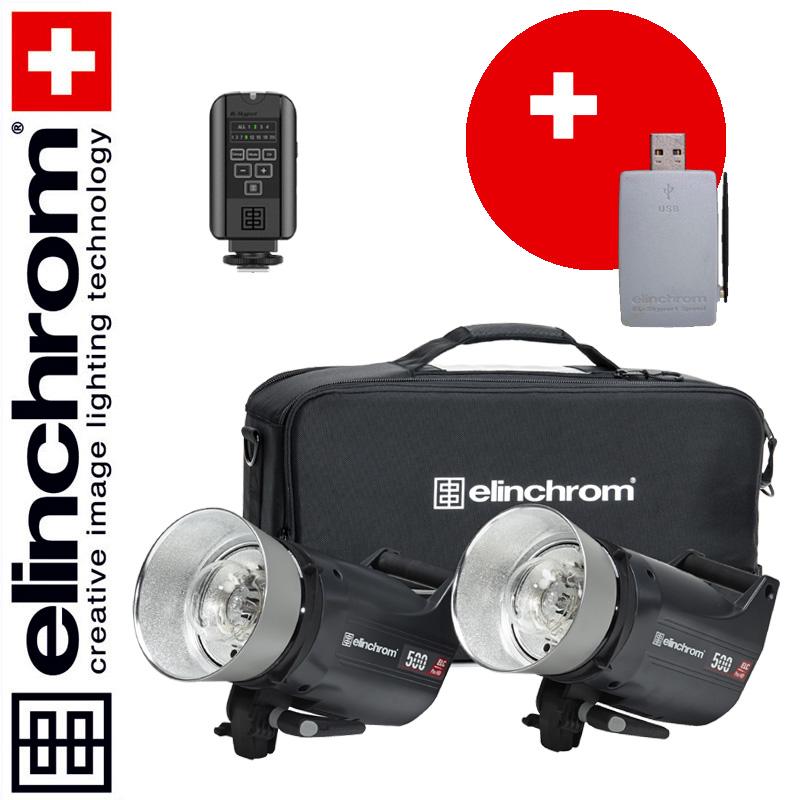 Elinchrom ELC Pro HD 500/500 To Go Set (500/500 Ws) + Skyport USB RX MK-II