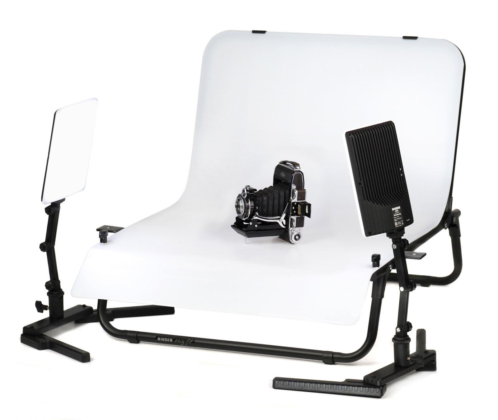 KAISER Aufnahmeset easy-fit LED, Aufnahmetisch mit LED Tageslicht-Beleuchtungseinrichtung