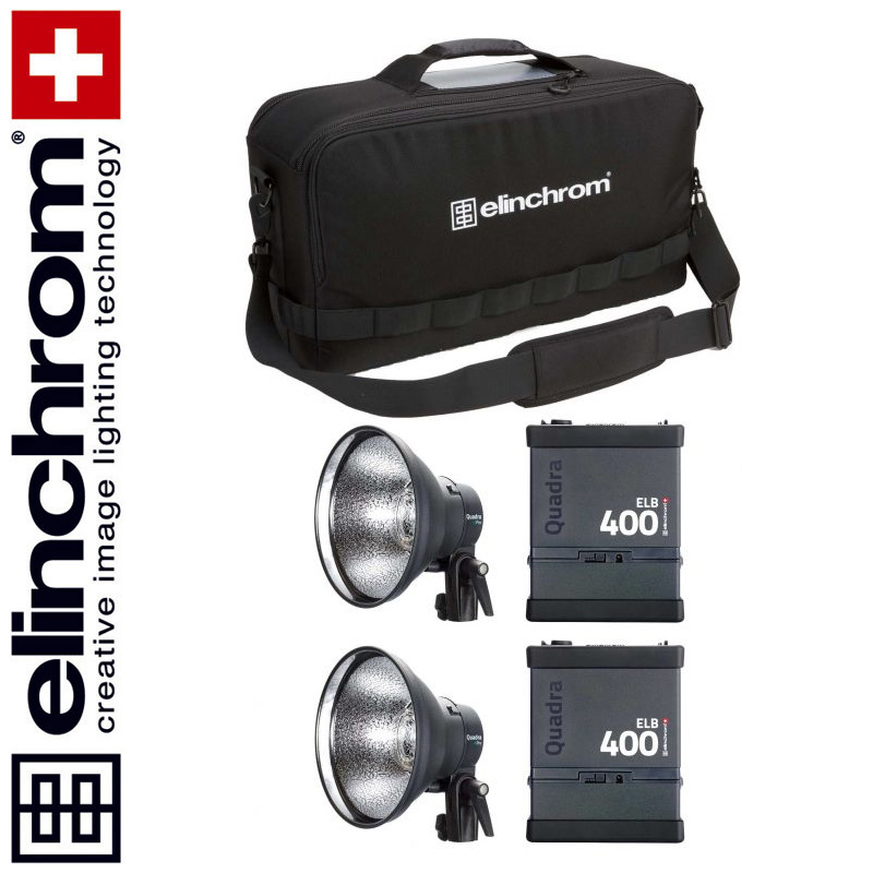 Elinchrom ELB 400+ELB 400 - HI-SYNC TWIN Set (LI-ION)