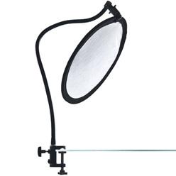 Lastolite Halterung mit Flexarm und Tischklemme für 30cm Faltreflektoren
