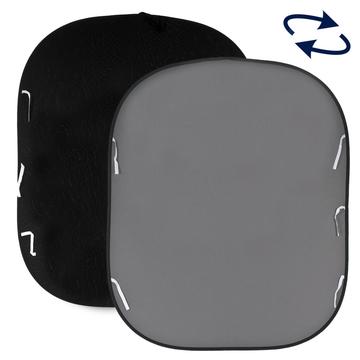 Lastolite Twist Flex Hintergrund 1,8 x 2,15m grau / schwarz