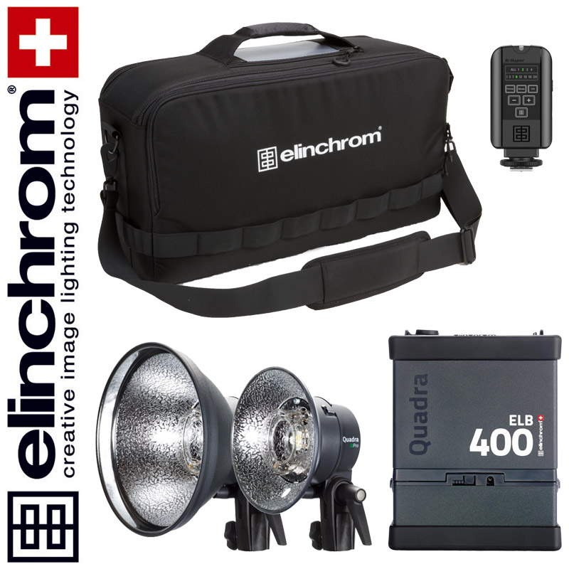 Elinchrom ELB 400 - DUAL ACTION To Go Set (LI-ION) --ACTIONFREEZE--