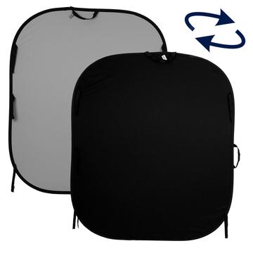 Lastolite Twist Flex Hintergrund 1,5 x 1,8m grau / schwarz