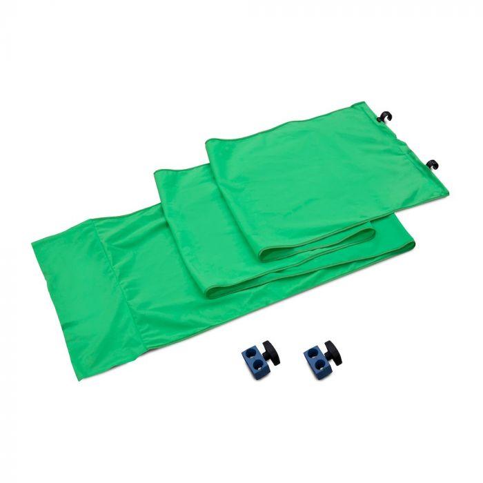 Lastolite Verbindungskit für 2 Panorama Hintergrundsysteme, Greenbox grün