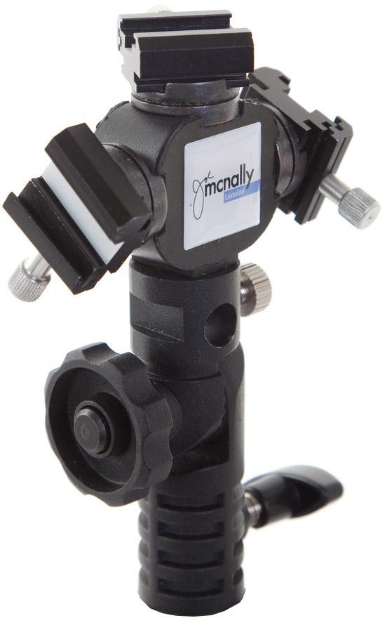 Lastolite Joe McNally TriFlash Shoe Lock - Blitzneiger für bis zu 3 Systemblitzgeräte