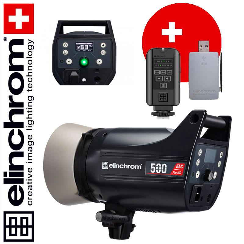 Elinchrom ELC Pro HD 500 (500 Ws) + Skyport USB RX MK-II + Skyport PLUS Sender