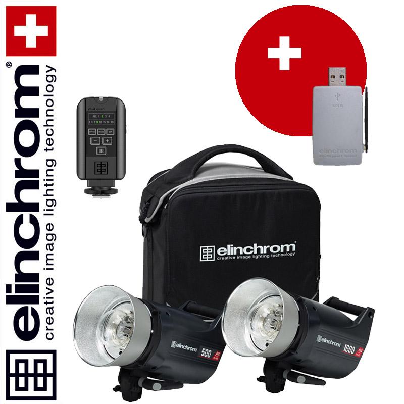 Elinchrom ELC Pro HD 500/1000 To Go Set (500/1000 Ws) + Skyport USB RX MK-II