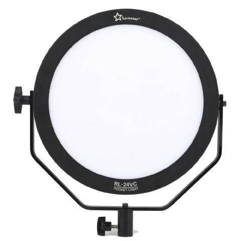 Linkstar Soft-LED Leuchte, Bi-Color 3200K-5600K, 24W, Leuchtfläche ø 25cm