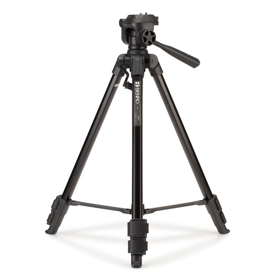 Benro Digital Foto-/Video-Stativ mit 3D-Neiger und Kurbelmittelsäule