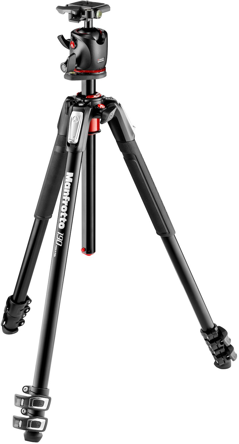 Manfrotto 190XPRO3 Stativset + MHXPRO-BHQ2 Kugelkopf aus Magnesium