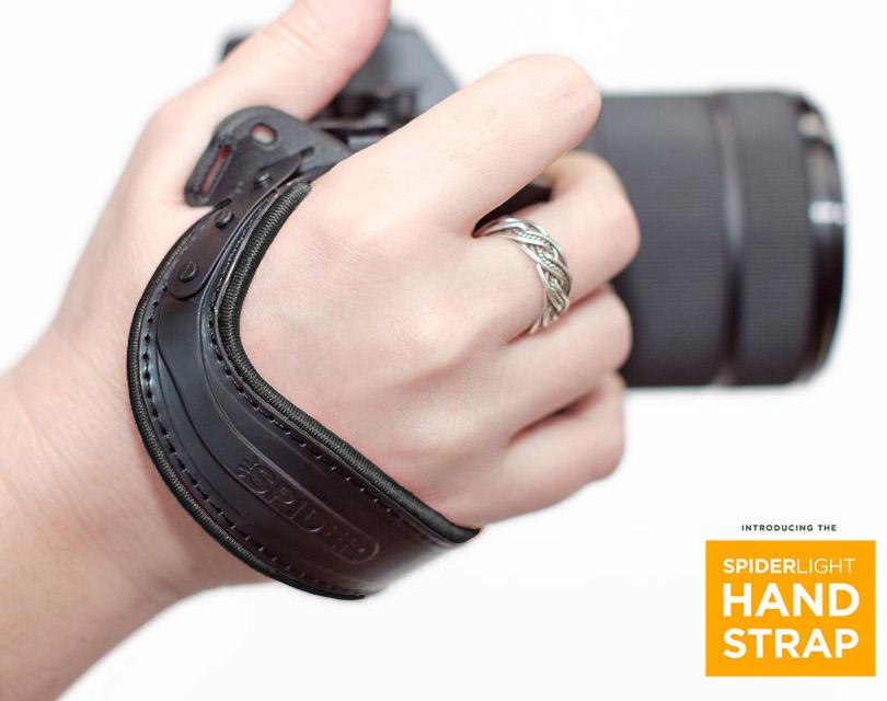 SpiderLight Handschlaufe, schwarz, für spiegellose Systemkameras und leichte DSLRs