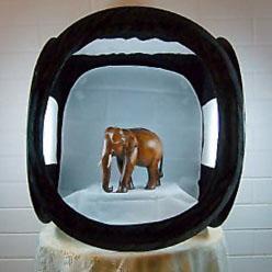 Lichtwürfel schwarz 40cm
