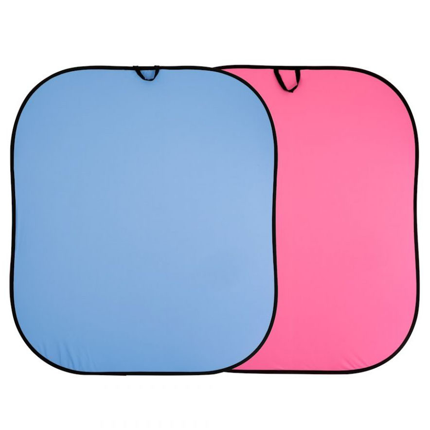 Lastolite Falthintergrund blau / pink 1,8 x 2,15m