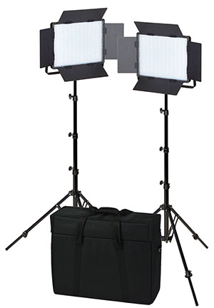 KAISER LED-Flächenleuchten 2er-Set NANLITE 900CSA, Leuchtfläche 33x25,5cm
