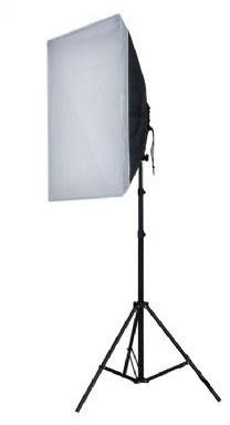 Falcon Eyes Tageslicht Beleuchtungs-Set mit faltbarer 60x60cm Softbox, entspricht  800W