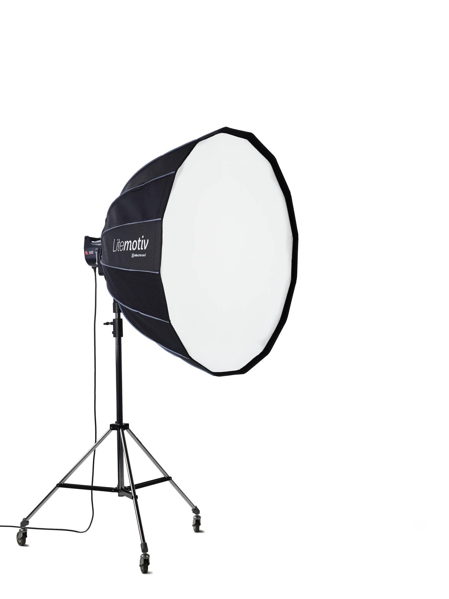 Elinchrom ELC Pro HD 500/500 To Go Set (500/500 Ws) + Litemotiv Softbox 120cm