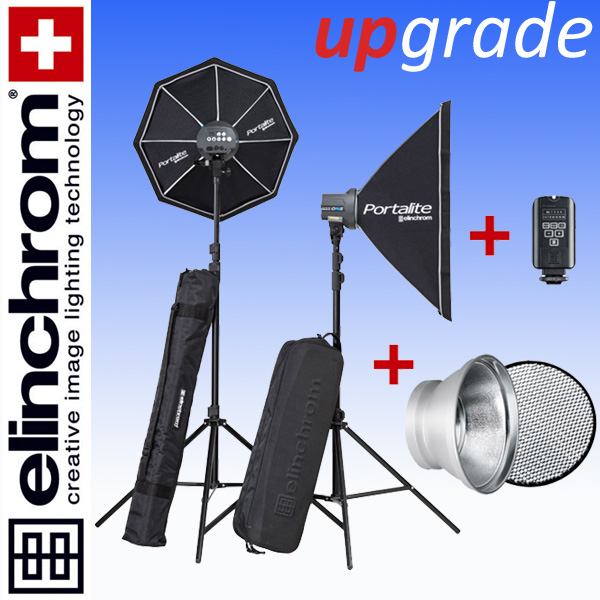 Elinchrom D-LITE RX ONE/ONE Softbox To Go Set (100/100Ws) + 18cm Reflektor + 30° Wabe