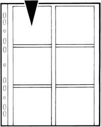 Kenro Dia-Archivhüllen für 6 gerahmte 6x7cm Dias