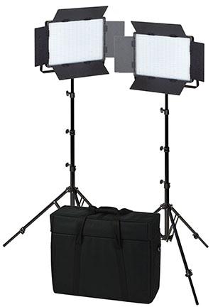 KAISER LED-Flächenleuchten 2er-Set NANLITE 1200CSA, Leuchtfläche 38x25,5cm