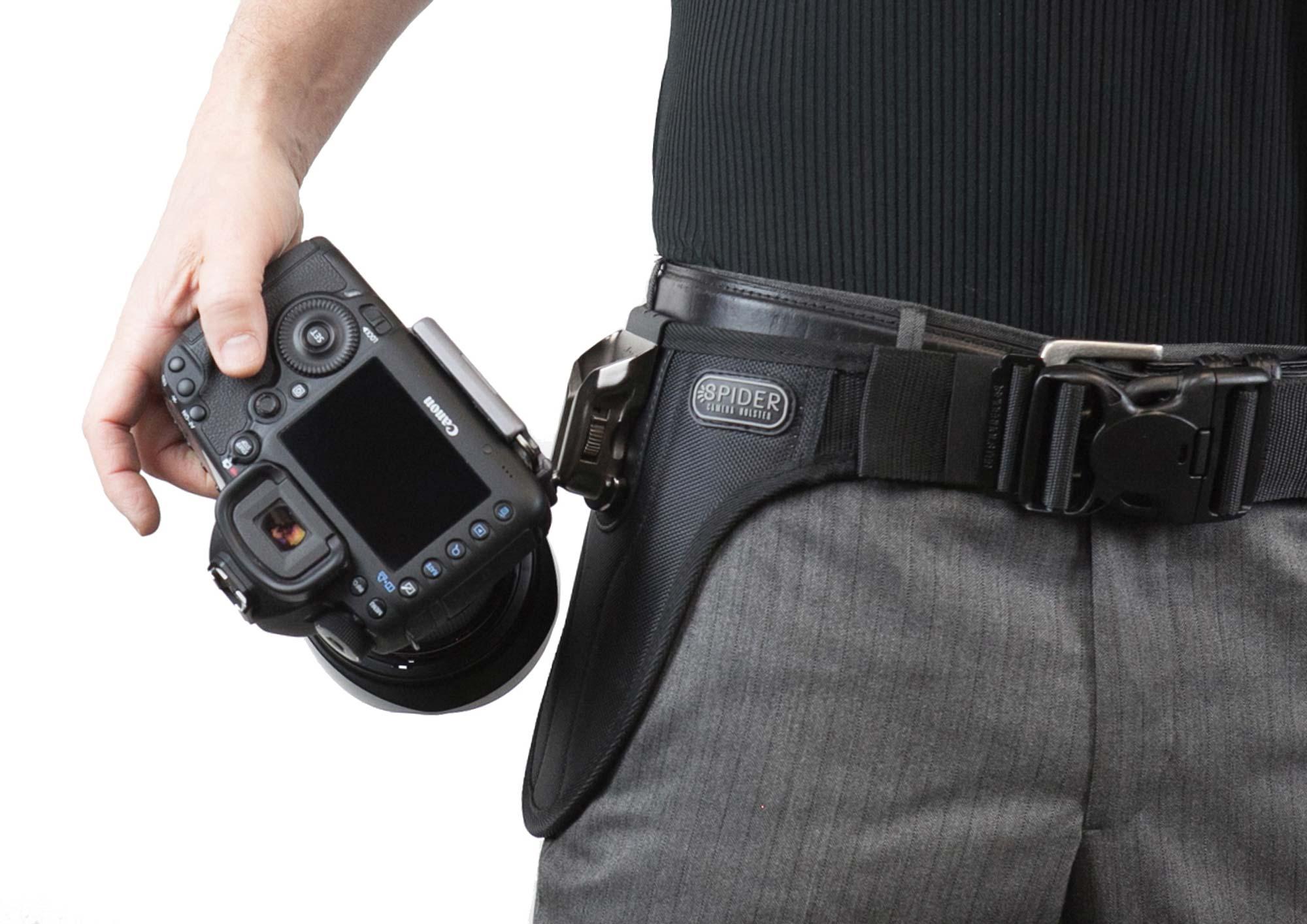 SPIDER PRO v2 Single Camera System – Hüft-Tragesystem mit Hüftgurt und Holster für 1 prof. DSLR