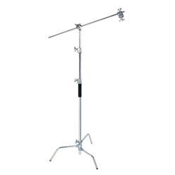C-Stand 135-290cm, inkl. Boom-Arm 100cm mit 2 Neigegelenken