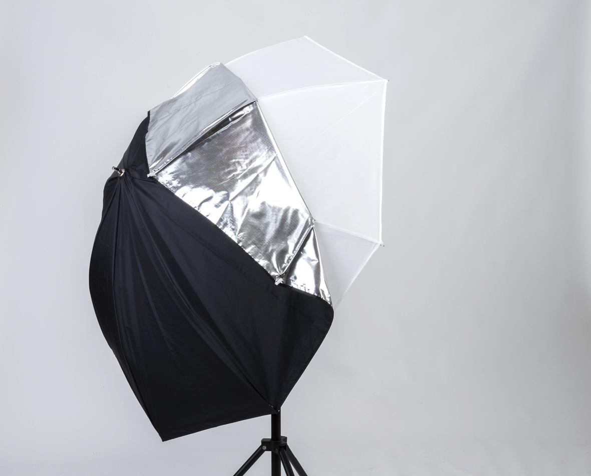 Lastolite Studioschirm ALL-IN-ONE (silber/weiß/transparent) ø 72cm