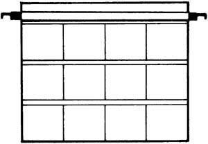 Kenro Dia-Archivhüllen für 12 gerahmte 6x6cm Dias, ohne Schienen