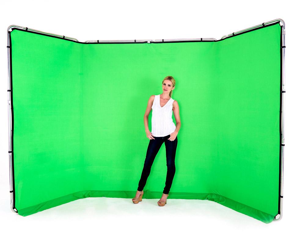 Lastolite Panorama Hintergrundsystem 4 x 2,3m, Greenbox grün