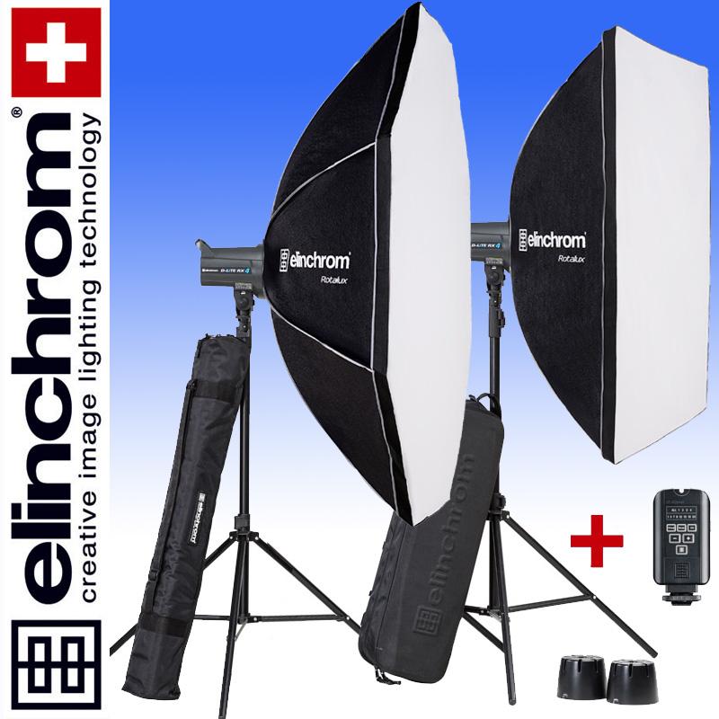 Elinchrom D-LITE RX 4/4 ROTALUX SET mit Softbox 90 x 110cm und Octa Softbox 135 cm (400/400Ws)