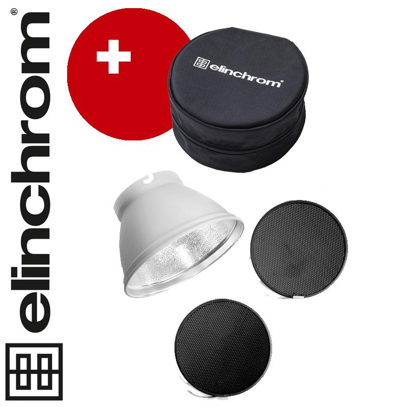 Elinchrom ø 21cm Wabengitter-Set basic + Transporttasche für Wabengitter