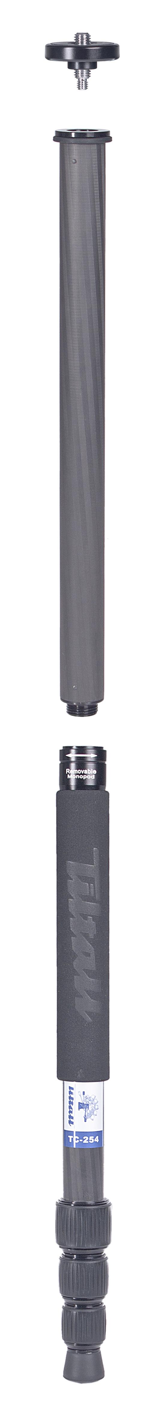 TILTALL Kamerastativ mit integriertem Einbeinstativ TC-254 Carbon