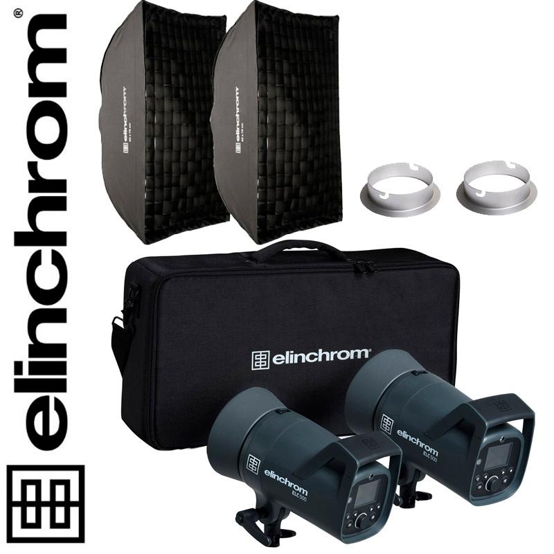 Elinchrom ELC 500/500 TTL Dual Recta Softbox Set