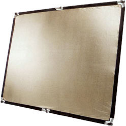 POP-UP Flächenreflektor 150x200cm softgold/weiß