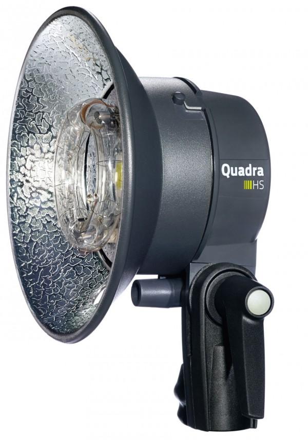 Elinchrom Quadra HS Lampenkopf -- speziell für die Hi-Sync Fotografie -- mit LED Einstelllicht