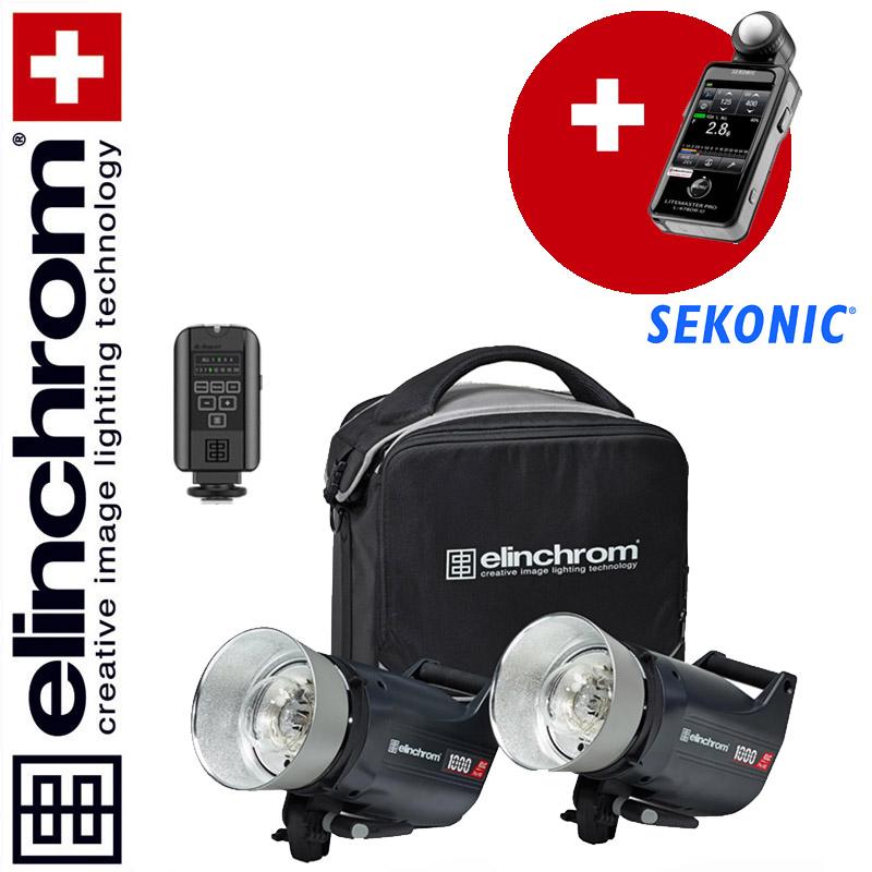 Elinchrom ELC Pro HD 1000/1000 To Go Set (1000/1000 Ws) + Sekonic Litemaster L-478DR-EL