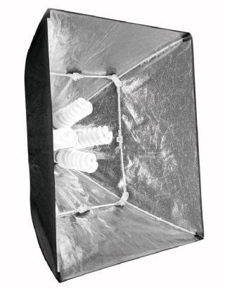 Falcon Eyes Tageslicht Beleuchtungs-Set mit faltbaren 60x60cm Softboxen, entspricht 2 x 800W