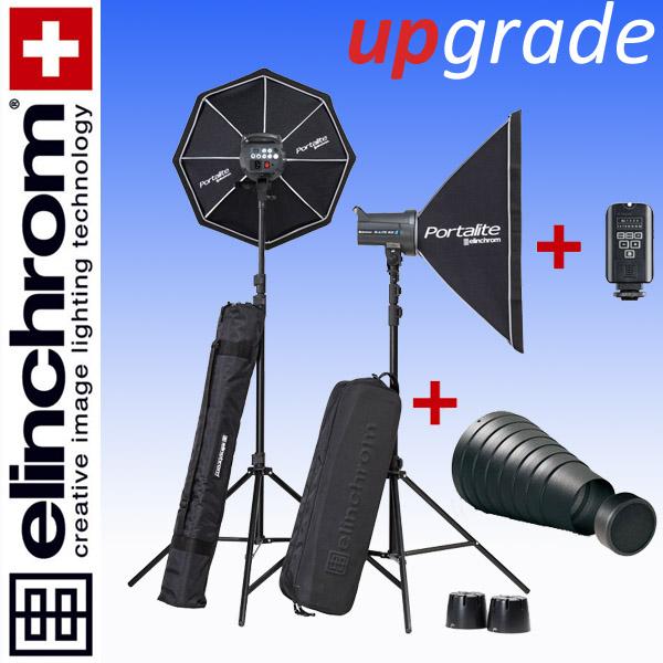 Elinchrom D-LITE RX 4/4 TO GO SET (400/400Ws) + Spotvorsatz + Wabe