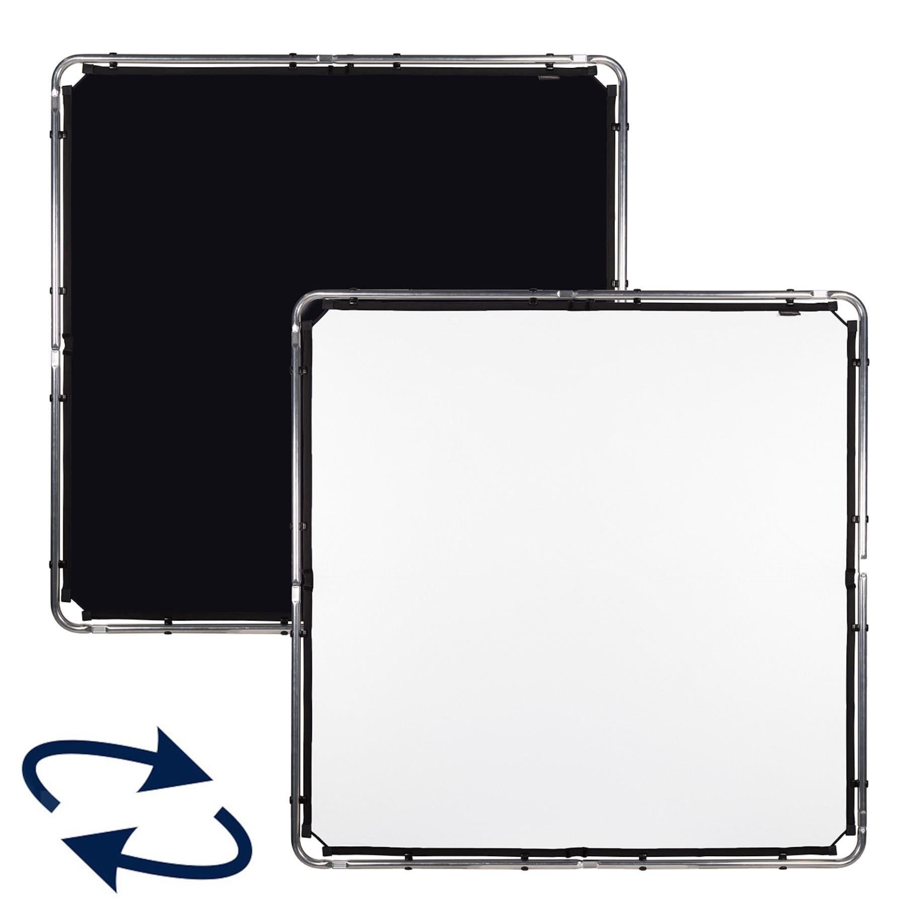 Lastolite SkyRapid Bespannung midi 1,5 x 1,5m schwarz / weiß