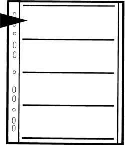 Kaiser Negativ-Ablageblätter - Pergamin für Filme 120 (60 mm)
