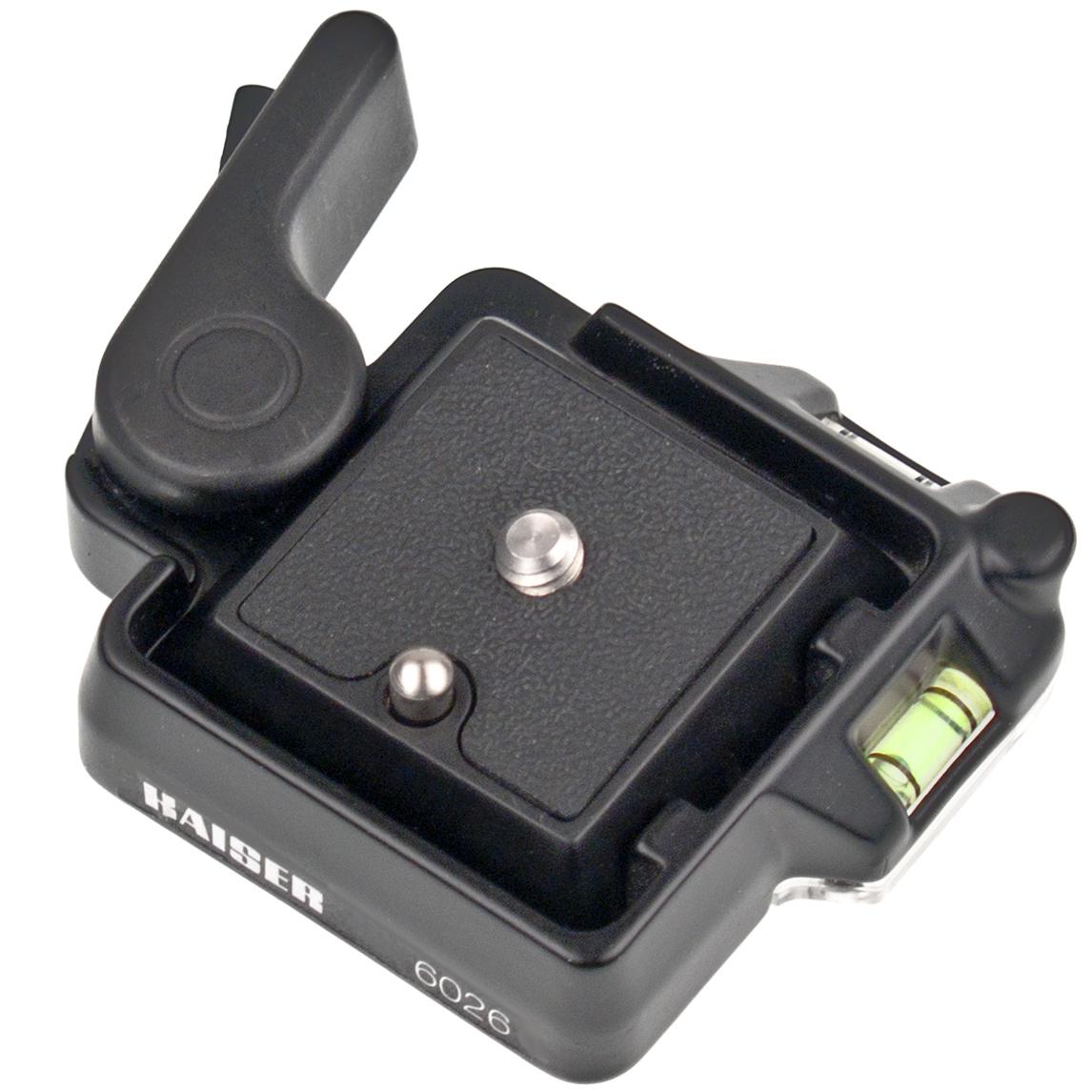 KAISER Schnellkupplung für Kamerastative mit integrierten Wasserwaagen inkl. 1 Schnellwechselplatte
